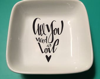All You Need is Love Jewelry Dish