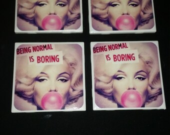 Marilyn Monroe Coasters- Set of four