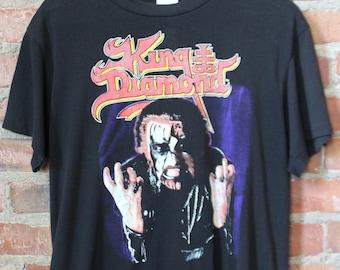 c33061e72d3 Vintage King Diamond Concert T Shirt 1988 World Tour Medium 80s Black Ozzy  Alice Cooper Motorhead