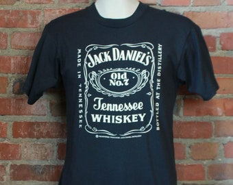 998b05257ff Vintage 80 s Jack Daniels Graphic T Shirt Unisex Large Tennessee Whiskey
