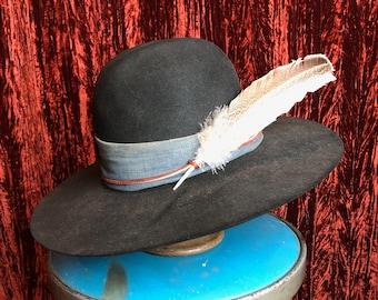 Vintage Stetson 4X Beaver Black Shag Custom Shop Cowboy Hat With 1950 s  Denim Size 7 0fc953a2c4d