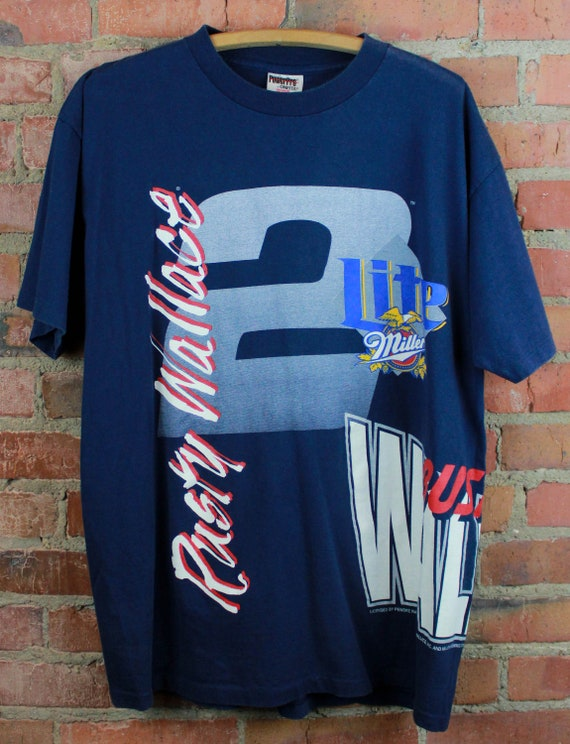 Vintage 90's Nascar Rusty Wallace Graphic T Shirt