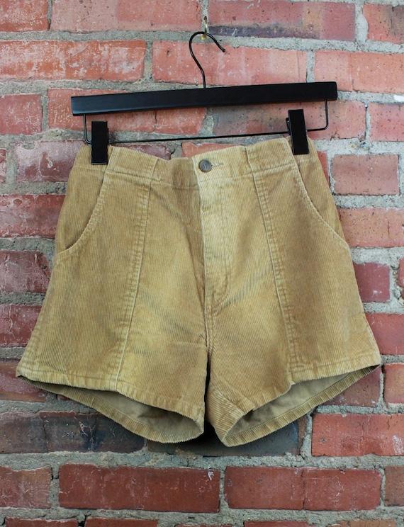 Women's Vintage 80's Corduroy Shorts Beige Medium/
