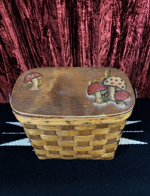 Vintage 70's Mushroom Basket Purse - image 1