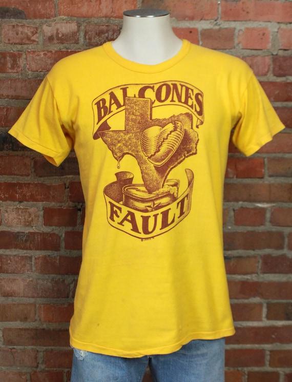 Vintage Balcones Fault Texas Graphic T Shirt Unise