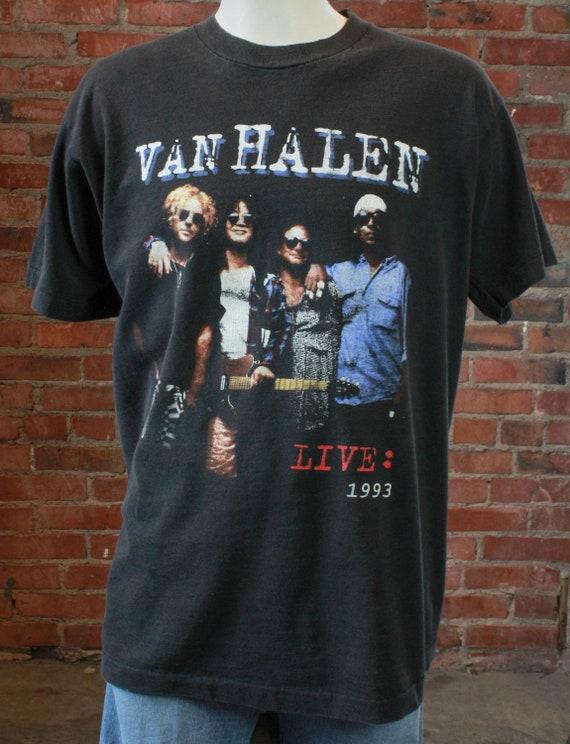 Vintage Van Halen Concert T Shirt 1993 World Tour
