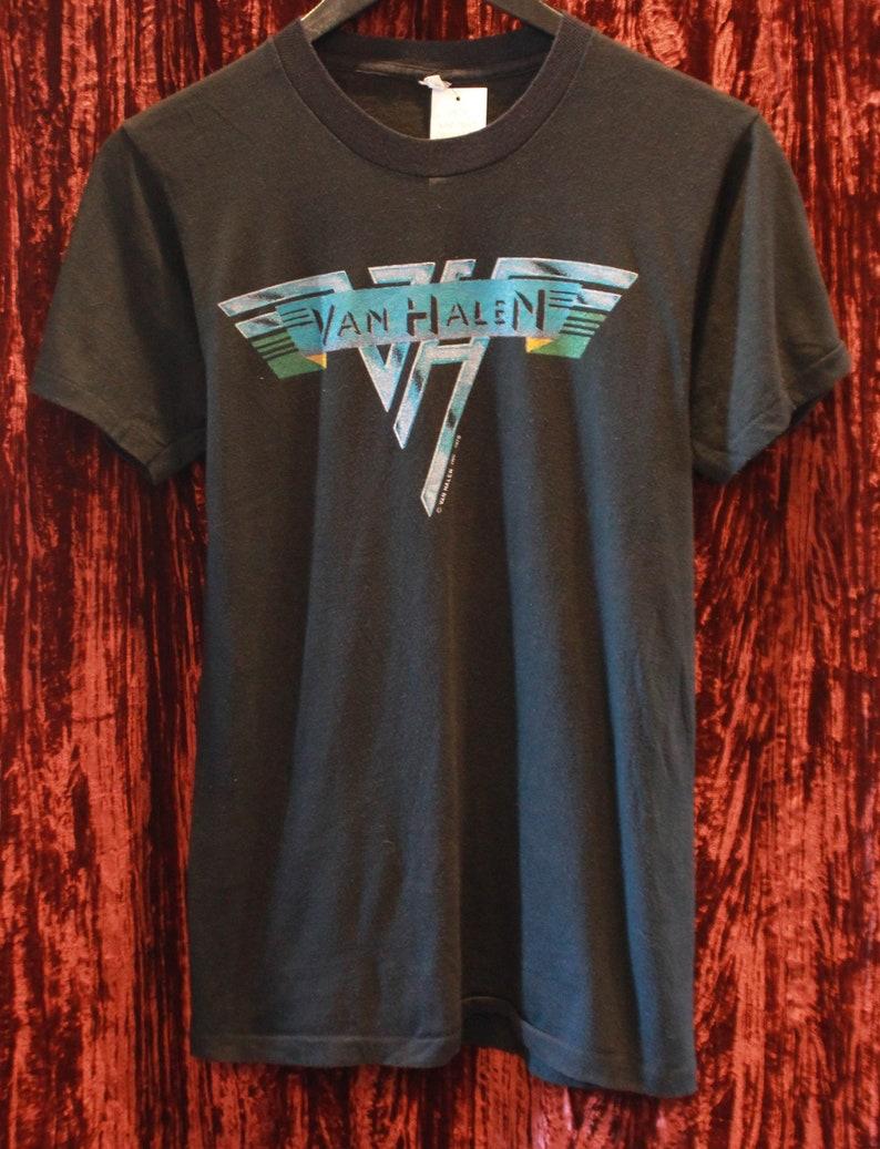 8e322da9a63 Vintage Van Halen Concert T Shirt 1978 Tour Unisex Small Hard