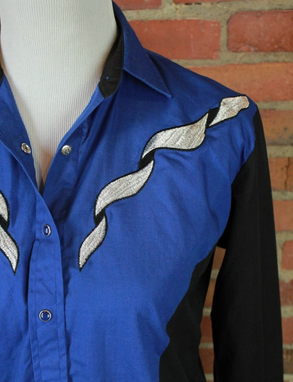Women's Vintage Country Charmers Blue And Black Em