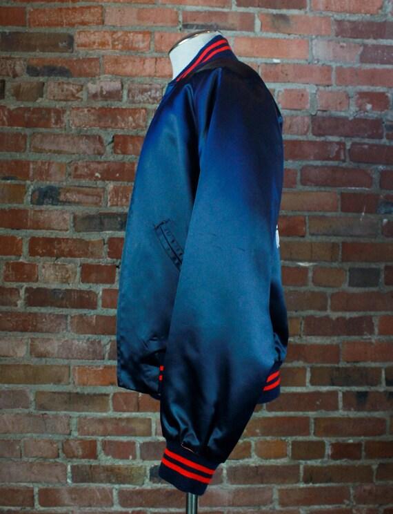 Vintage 80's Nashville Network Bomber Jacket Sati… - image 5