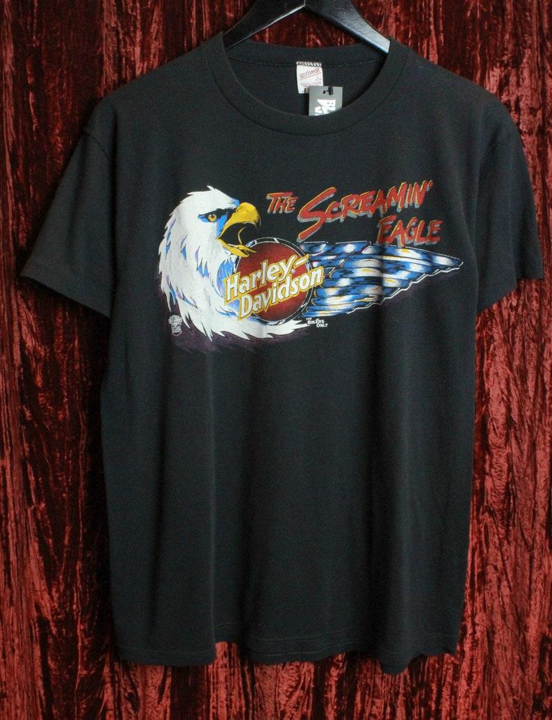 85f58092 Vintage Harley Davidson T Shirt The Screaming Eagle Florida | Etsy