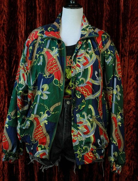Vintage 80's Silk Bomber Jacket Fuda International
