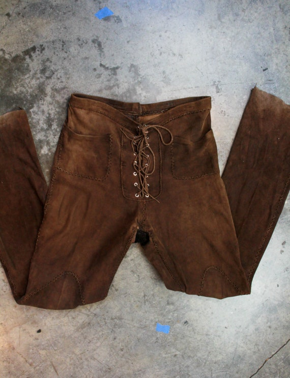 Vintage 70's North Beach Leather Brown Suede Pants