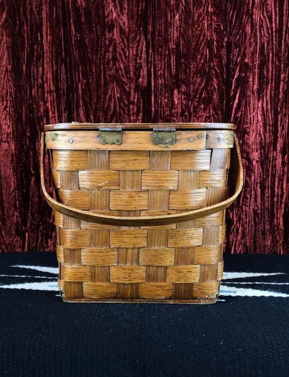 Vintage 70's Mushroom Basket Purse - image 3