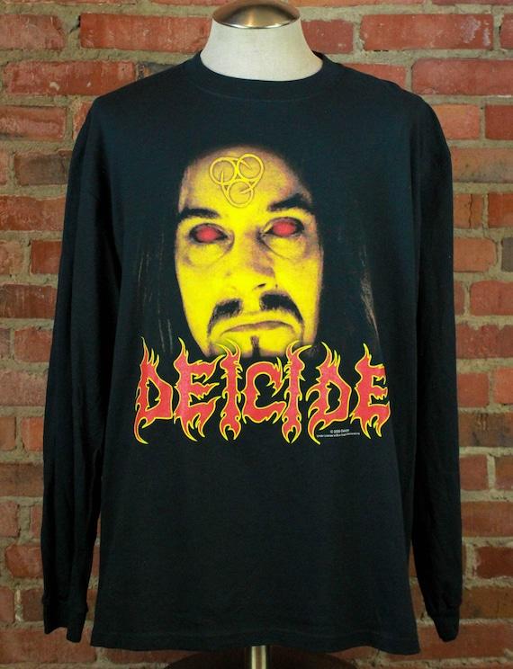 Vintage 2000 Deicide Longsleeve Concert T Shirt -