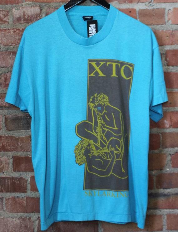 Vintage XTC Concert T Shirt Skylarking 1986 XL Blu