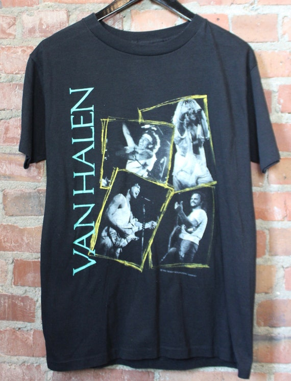 Vintage Van Halen Concert T Shirt 1988 OU812 World