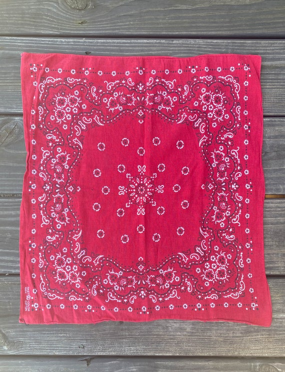 Vintage 50's Elephant Red Selvedge Bandana