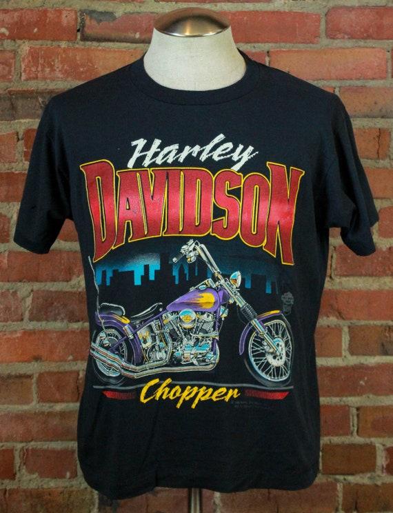 Vintage 1988 Harley Davidson Chopper T Shirt Unise