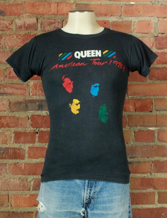Vintage Queen Concert T Shirt 1982 American Tour -