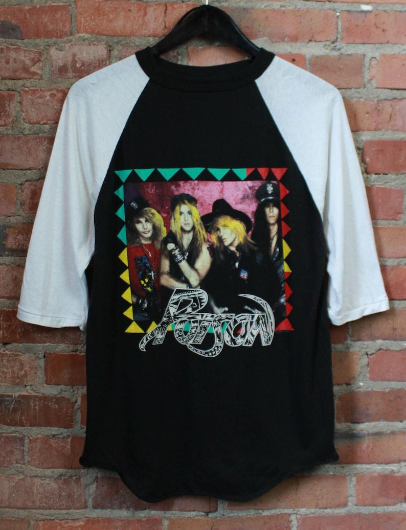 dd287ff12aa Vintage Poison Concert Jersey T Shirt 1988 US Tour Unisex