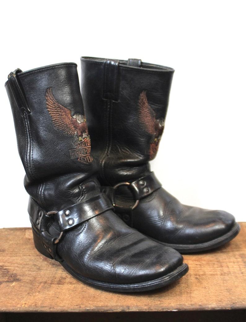 9f51274ec6b8cc Vintage Harley Davidson Mens Motorcycle Harness Boots Size 9