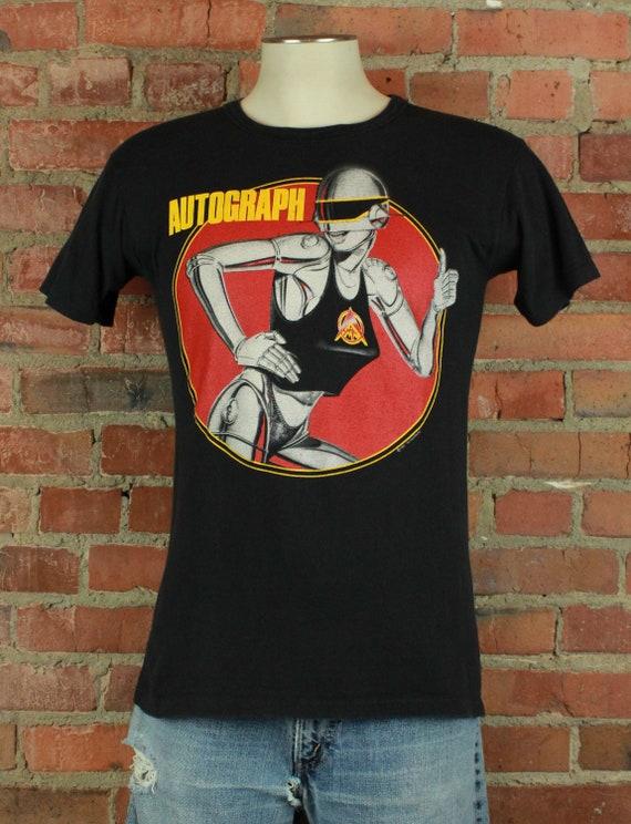 Vintage 1985 Autograph Concert T Shirt - S/M