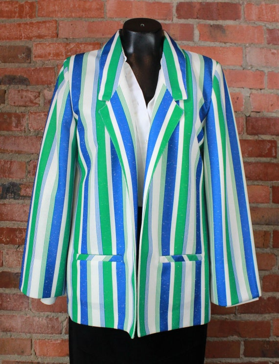 Women's Vintage 80's Pykettes Blazer Jacket Blue G