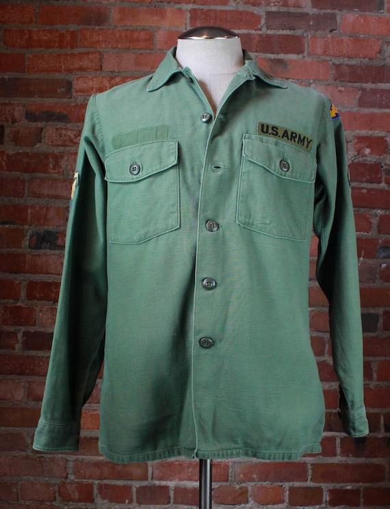 Men's Vintage 70's US Army Olive Drab Shirt Jacket