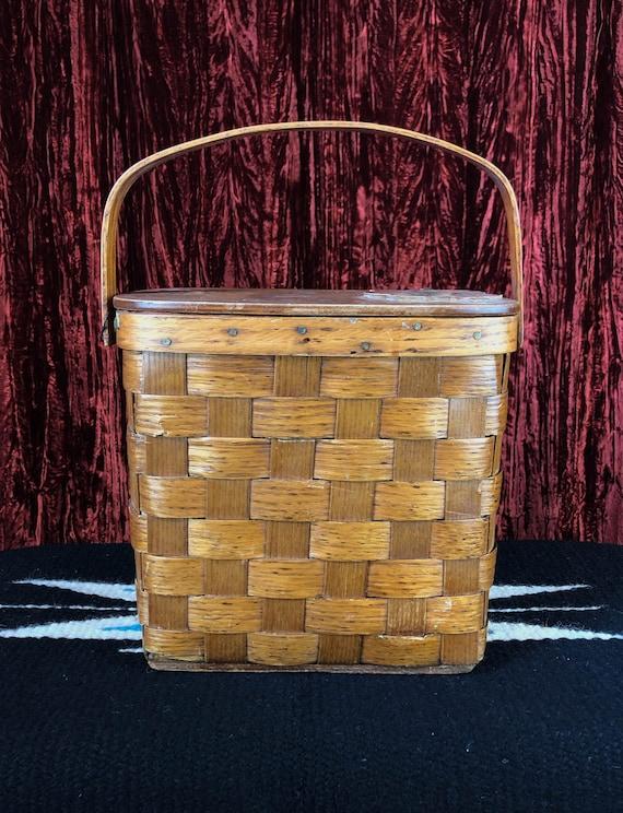 Vintage 70's Mushroom Basket Purse - image 2