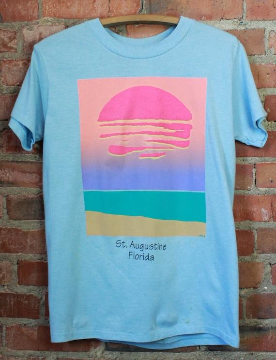 Vintage 80's St. Augustine Florida Graphic T Shirt