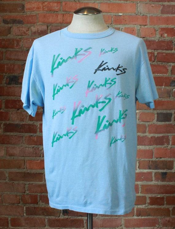 Vintage 80's The Kinks Concert T Shirt US Tour Bab