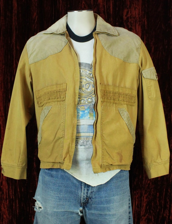Men's Vintage 60's Canvas And Corduroy Work Jacket