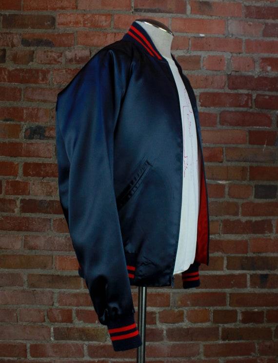Vintage 80's Nashville Network Bomber Jacket Sati… - image 4
