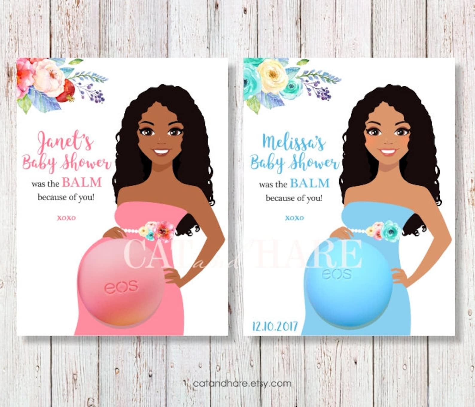 Eos baby shower favors