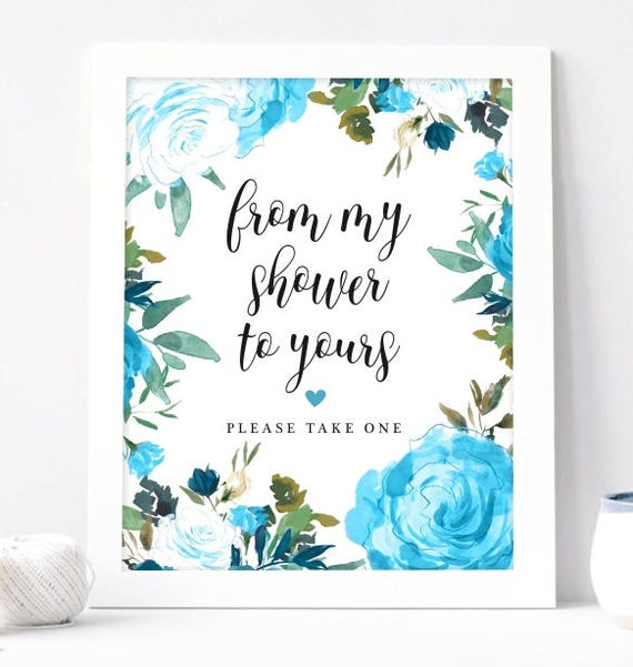 From My Shower To Yours Bridal Shower Favors Sign Baby Shower Etsy