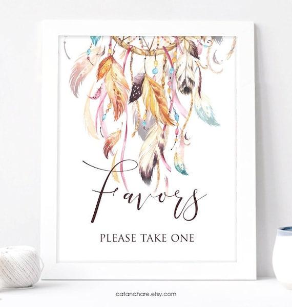 Bridal Shower Favors Sign Boho Decorations Baby Shower Wedding Favor