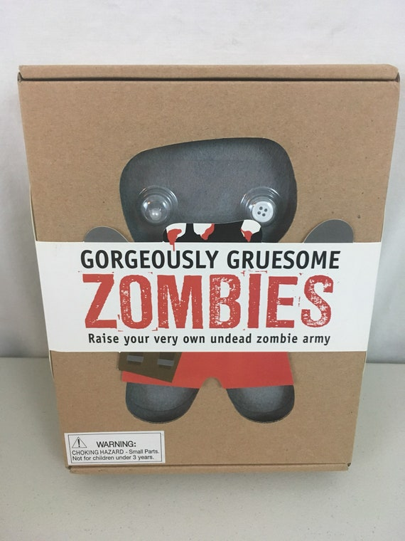 Gorgeously Gruesome Zombies Diy Felt Zombie Craft Kit Etsy
