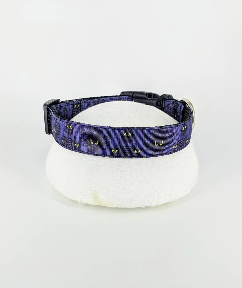 Lanyard Haunted Mansion Wallpaper Dog Pet Halloween Collar and Optional matching Leash Key fob Disney gifts