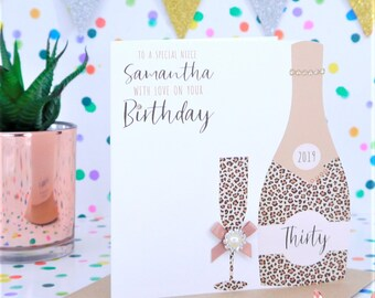 Personalised Handmade Birthday Card 40th 50th 60th 70th Sister Friend Daughter Mum Auntie Cousin