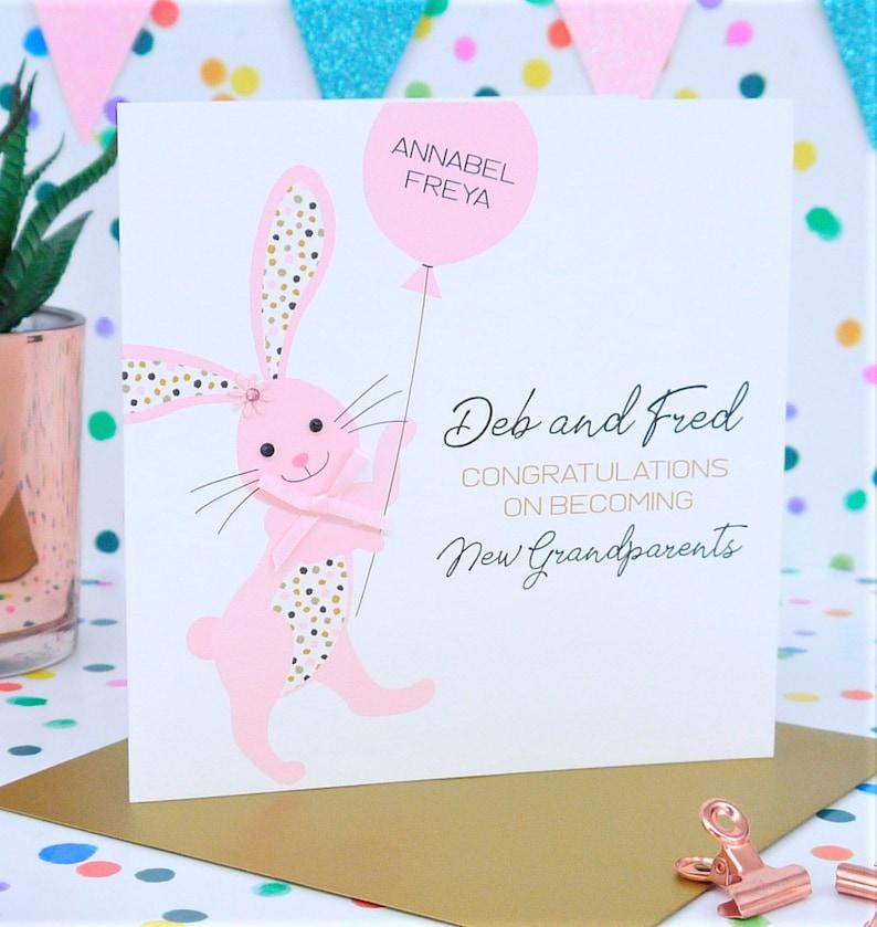 Granddaughter Beautiful Personalised Handmade New Grandparents Card