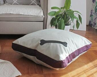 "Small Pet pillow cover, Pet cushion, Dog pillow, Floor pillow cushion, Pet pillow, Pet decor, Pet bed,  Cat pillow, 27"" (NO beans filling)"
