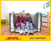Floor pillow cover, Large Floor cushion, Kids pillow, Kids bean bag chair, Large Cushion, Large Pillow, Floor seating, Floor Pouf, 27x27 quot