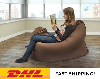 Amazing Large Bean Bag Cover Adult Bean Bag Chair Large Pouf Adult Caraccident5 Cool Chair Designs And Ideas Caraccident5Info