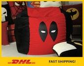 Deadpool bean bag chair cover, Deadpool beanbag, Deadpool face, Deadpool mas, Christmas gift, Adult bean bag, DeadPool Pouf, Deadpool pillow