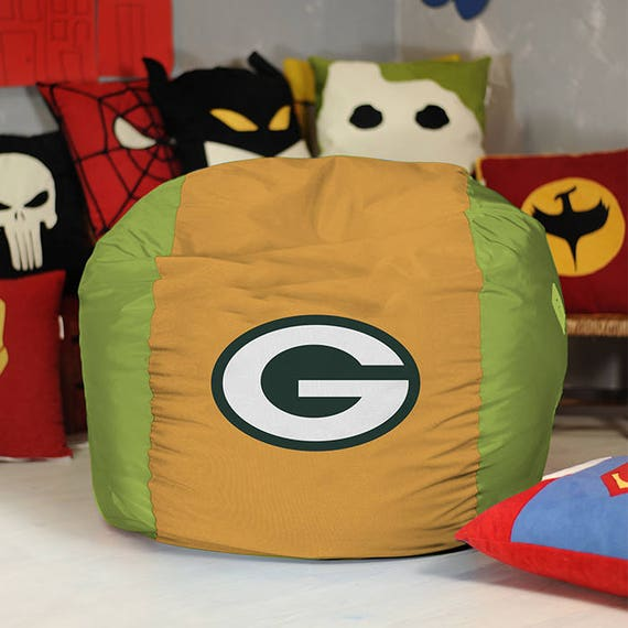 Tremendous Green Bay Packers Bean Bag Chair Cover Nfl Bean Bag Super Bowl T Pouf Football T American Football Evergreenethics Interior Chair Design Evergreenethicsorg
