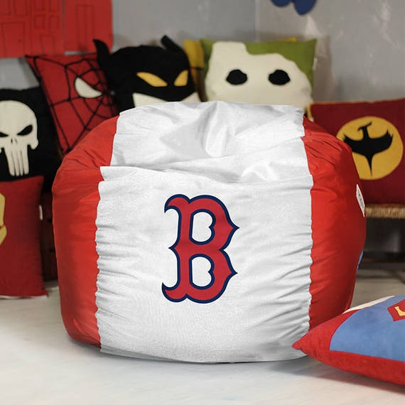 Awesome Boston Red Sox Bean Bag Chair Cover Mlb Bean Bag Red Sox Decor Pouf Baseball T Red Sox T Red Sox Chair Beanbag Chair Inzonedesignstudio Interior Chair Design Inzonedesignstudiocom