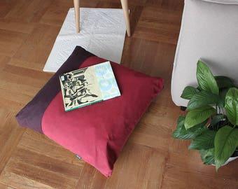 "Red Floor pillow cover, Floor cushion, Giant pillow, Seating cushion, Floor pillow seating, Red Decor, Winter decor, Pet bed, Pet pillow 27"""