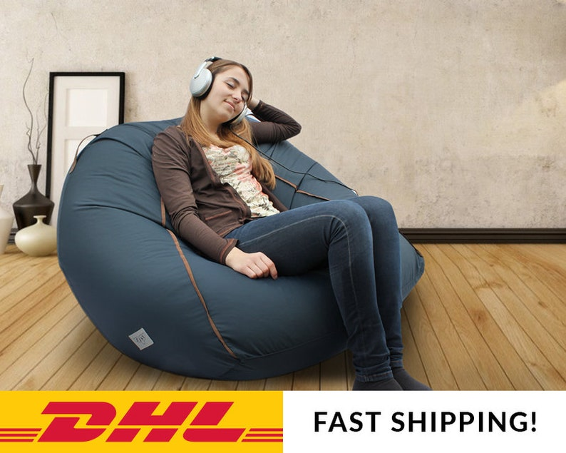 Large Bean Bag Cover Adult Bean Bag Chair Large Pouf Adult Etsy