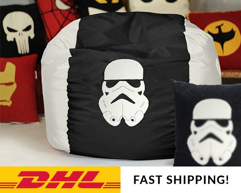 Star Wars Bohnen-Sessel-Cover Stormtrooper Bohnenbeutel | Etsy
