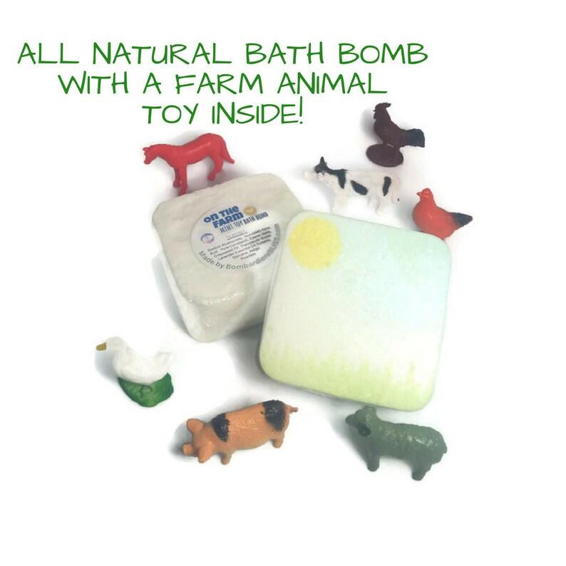 Toy On The Farm Kids Bath Bomb Lavender Essential Oil Bath Etsy